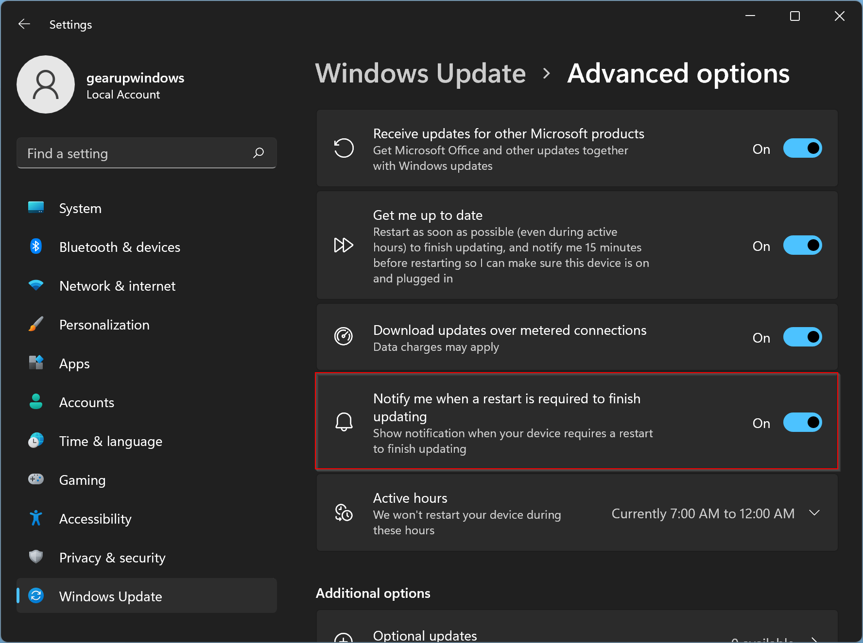 How to Disable or Enable Update Restart Notification in Windows 11?