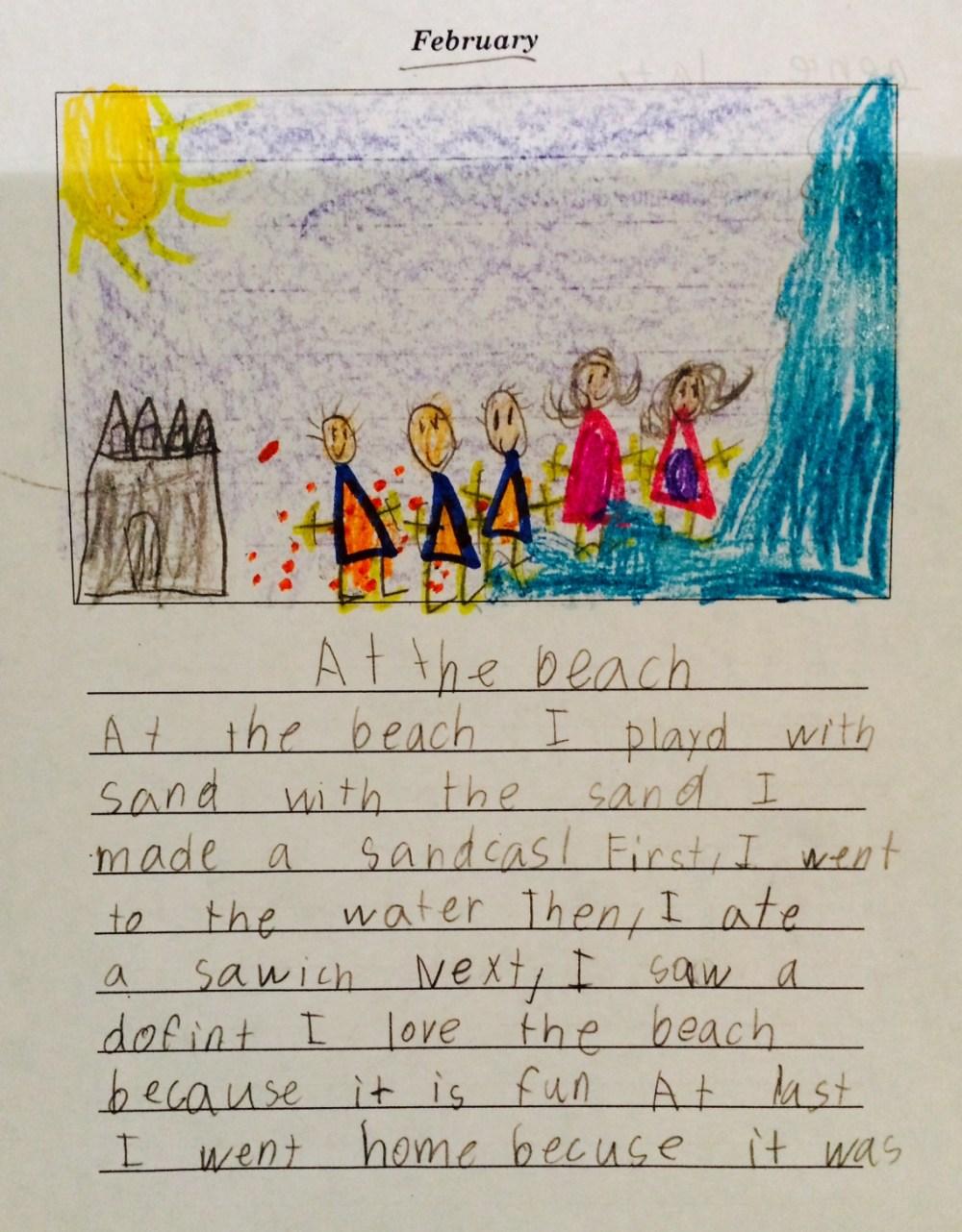 medium resolution of first grade writing samples   Gladys Elizabeth