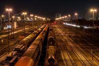 Gleisanlage in Mannheim