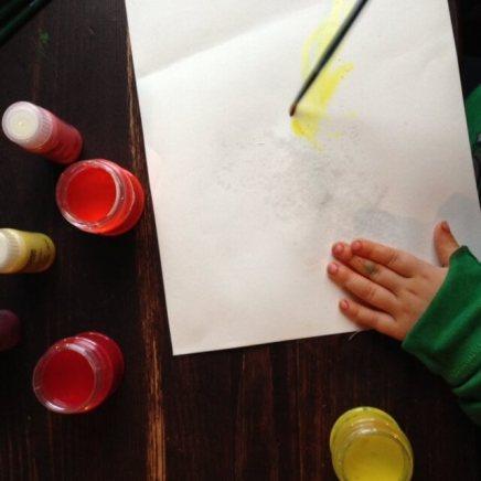 Malen mit Aquarellfarben