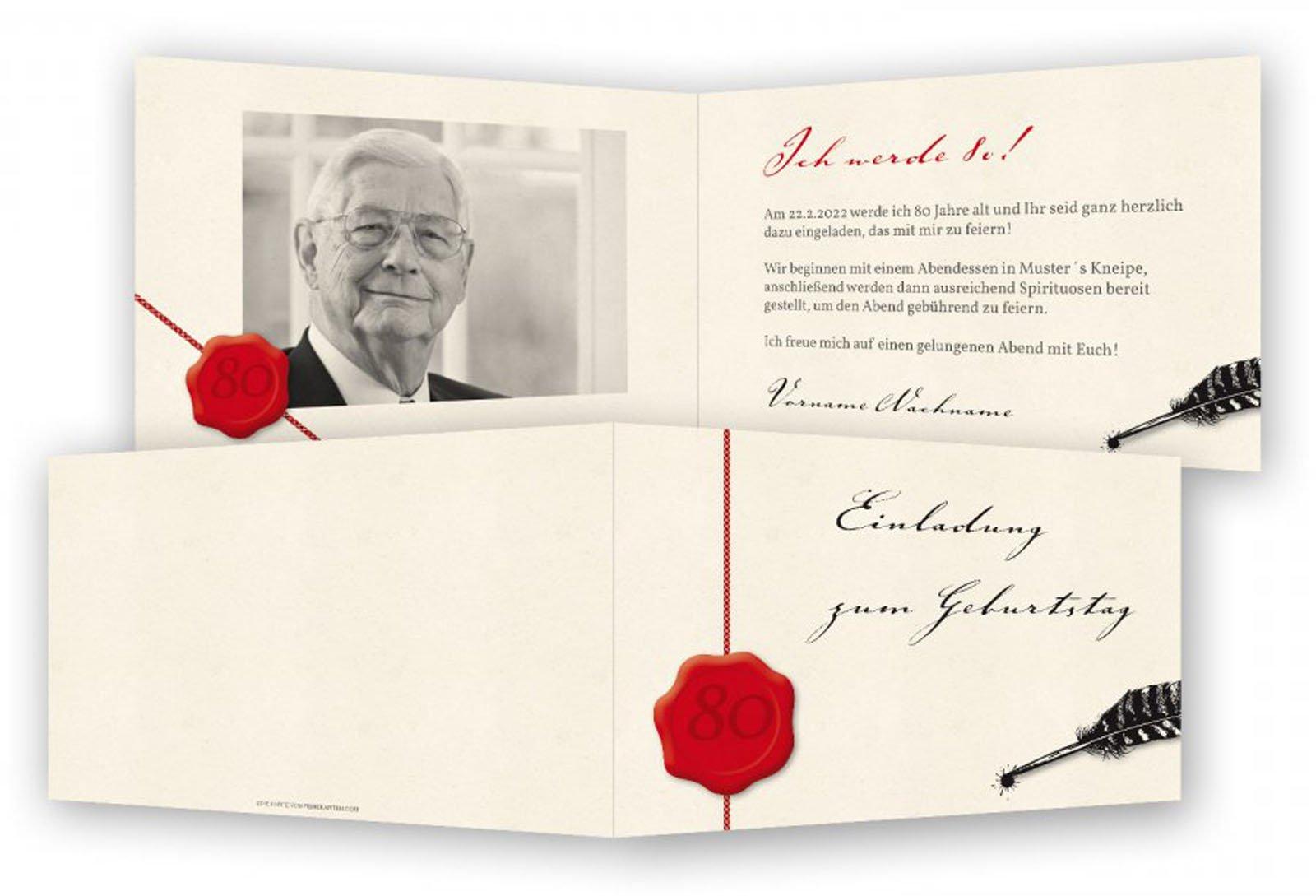 Einladung 80 Geburtstag Einladung 80 Geburtstag Spruch
