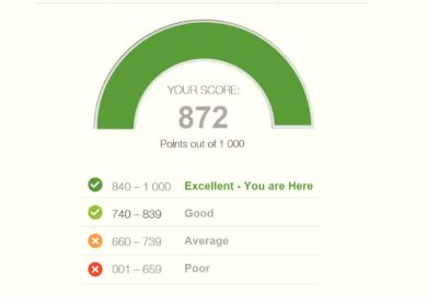 What is acceptable credit bureau score South Africa.