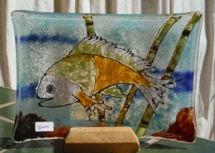 Fish Platter - Green and Orange - C8,000