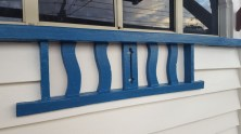 Teal arch window decoration - much better now!