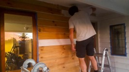 Edging the top of the weatherboards