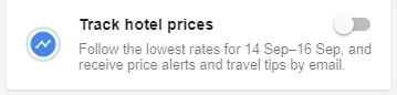 Google - hotel price tracker