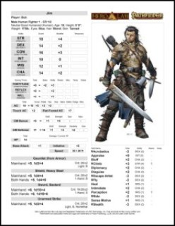 RPG character sheet