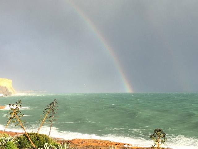 Regenbogen über der Praia da Luz (c) 2018 Corinne I. Heitz