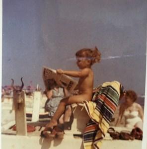 Ich ca. 1959 am Strand bei Milano Marittima, Adria, Italien