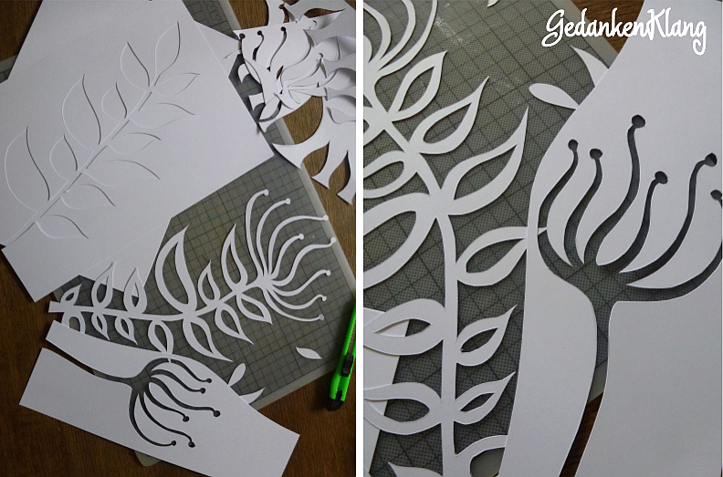 DIY: Fensterdekoration Papierblumen {paper cut}