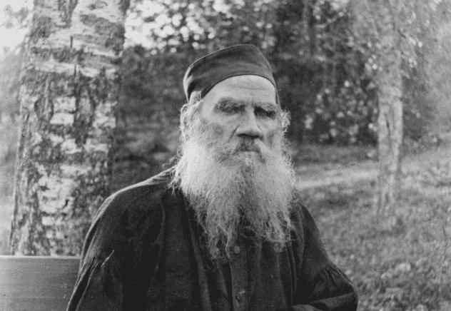 Schwarz Weis Aufnahme Von Tolstoi