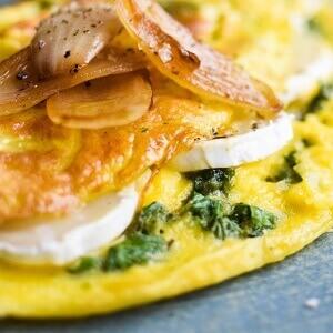 Opskrift på omelet med fyld