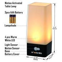 Emotionlite Motion Activated LED Bedside Lamp Night Light ...