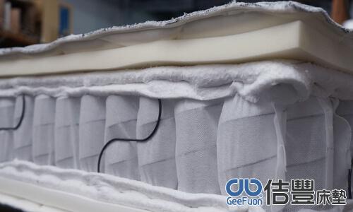 較薄的樹脂棉,厚的高密度泡棉、天然乳膠墊