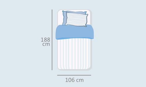 佶豐防蟎防水保潔墊-單人加大3.5x6.2尺