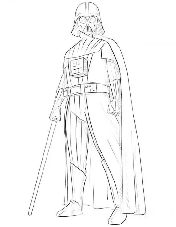 Darth Vader Outline : darth, vader, outline, Darth, Vader, Geek-Blog.net