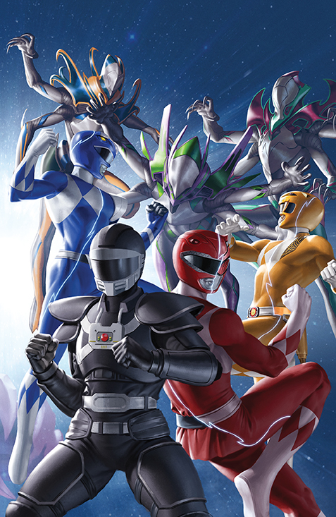 PowerRangers Unlimited EdgeDarkness 001 Cover B Connecting