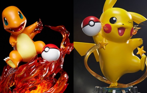 Pokémon statues