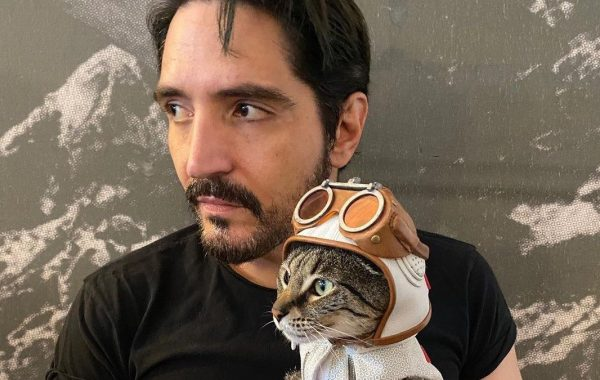 David Dastmachian and Polka-Dot Cat Photos