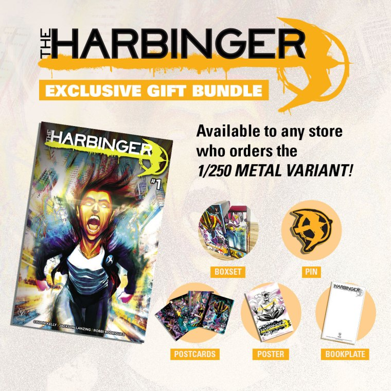 First Look At THE HARBINGER #1 Metal Cover And Gift Bundle
