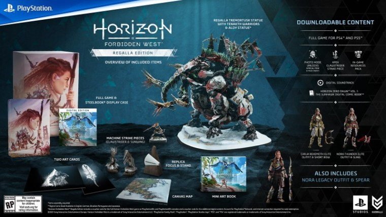 Horizon Forbidden West Different Editions Revealed