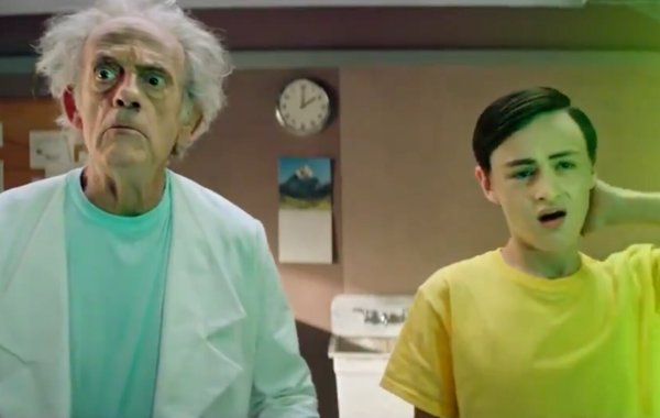 Live-Action RICK AND MORTY Promo Stars Christopher Lloyd and Jaeden Lieberher