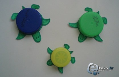 kako napraviti kornjace koristeci cepove boca