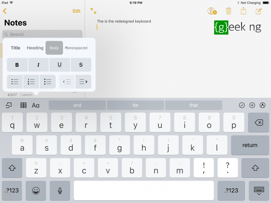 ios 11 keyboard