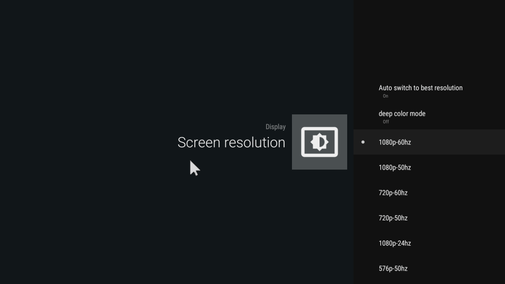 android tv resolution