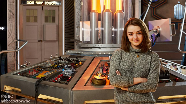 Maisie Williams in Doctor Who, le prime foto