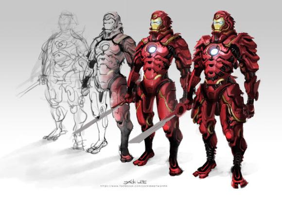 Iron Man samurai