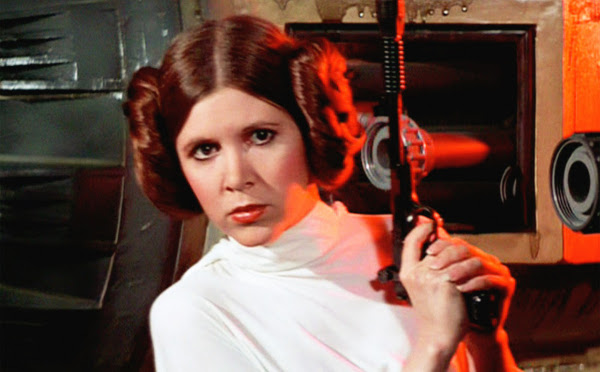 Star Wars: The Force Awakens – Carrie Fisher in costume da Leia