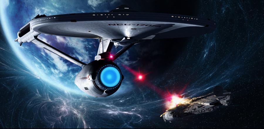 William Shatner vestito da assaltatore imperiale. Ma a voi piace più Star Trek o Star Wars?