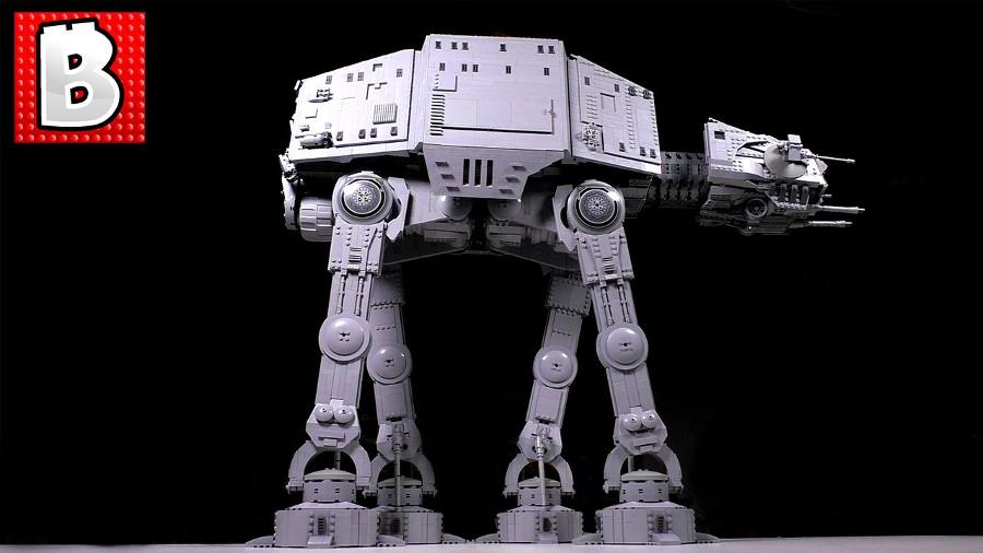 Un AT-AT gigantesco, fatto di oltre 6000 pezzi di Lego