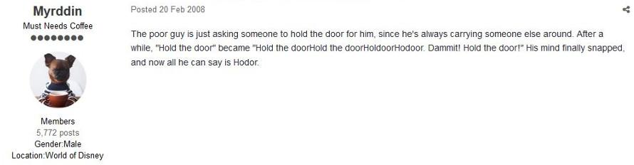 Hodor Hold The door