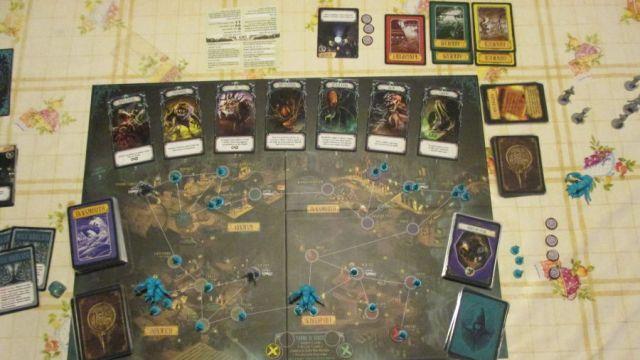 Pandemic il regno di Cthulhu tabellone