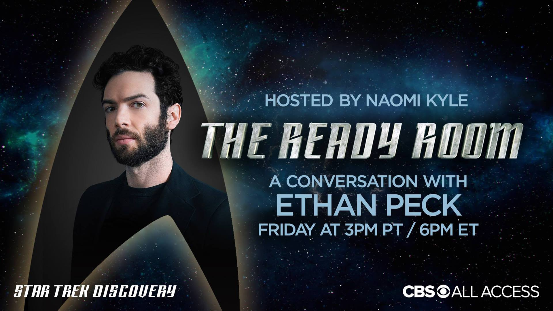 Star Trek Discovery: Ethan Peck ospite a 'The Ready Room'