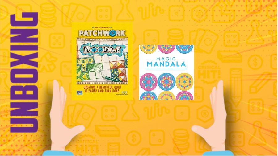 Patchwork Doodle e Magic Mandala – Doppio unboxing