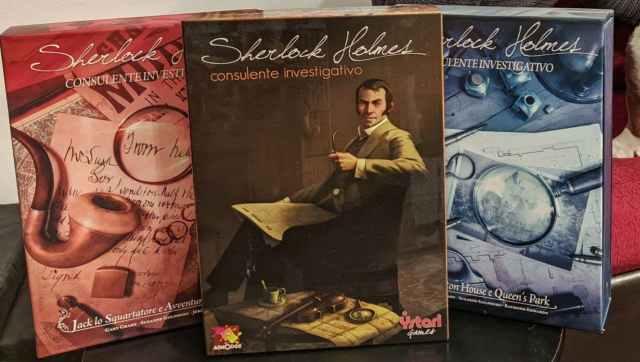 Tre edizioni Sherlock holmes consulting detective