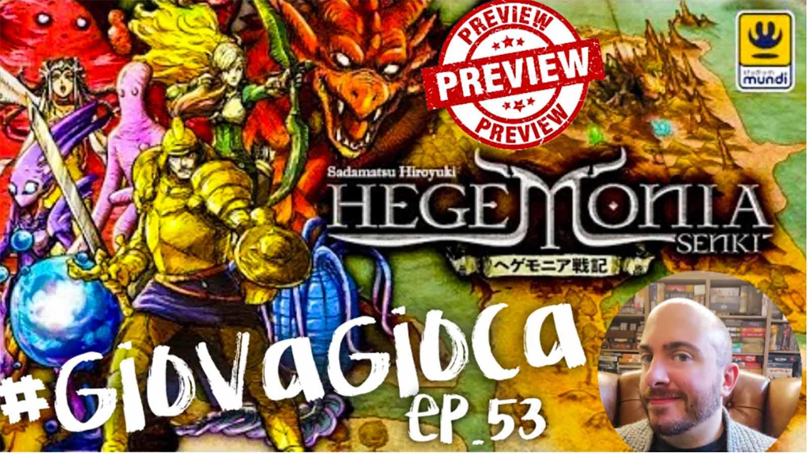 HEGEMONIA SENKI! Boardgame dal Giappone in Anteprima Speciale!