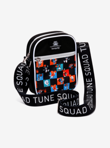 Hot Topic Space Jam Checkered Crossbody Bag