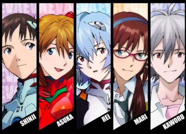 Neon Genesis Evangelion personajes