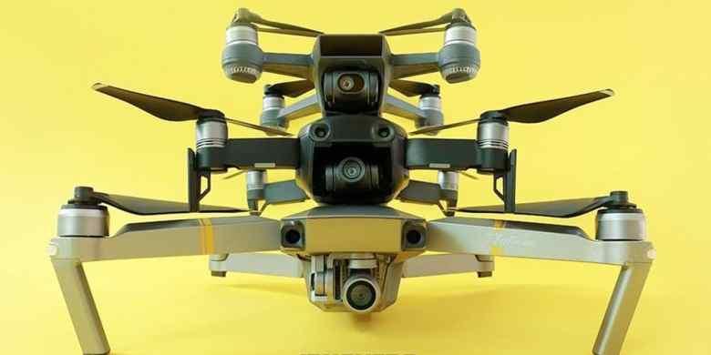 Comparativo de tamanho entre os drones mais populares