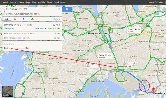 directions live traffic routes google maps