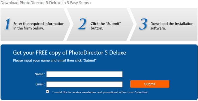 Get Free Copy PhotoDirector 5 Deluxe Edition