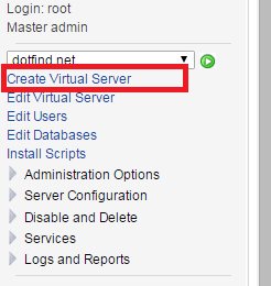 add website virtualmin