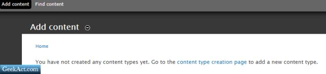 Drupal content types