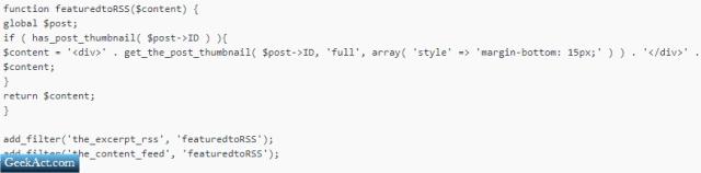 feeds optimized code