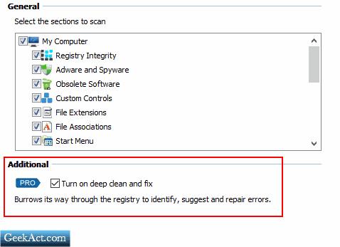 deep clean pro feature geekact
