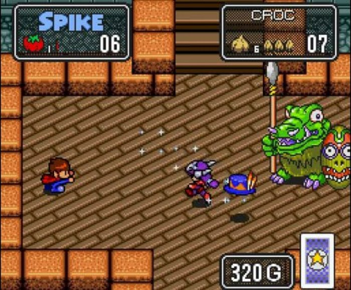 In addition to some very colorful bosses, there are even NPCs that help you on your quest, like that purple haired warrior there.